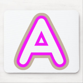 ALPHABETS AAA PINK MOUSE PAD