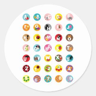 alphabetS Classic Round Sticker