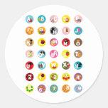 alphabetS Round Stickers