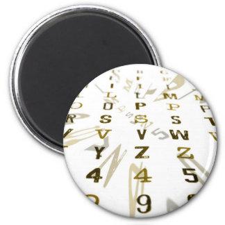 Alphanumeric design 2 inch round magnet