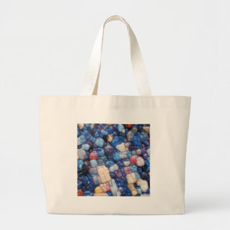 Alphanumeric Typeface Abstract Large Tote Bag