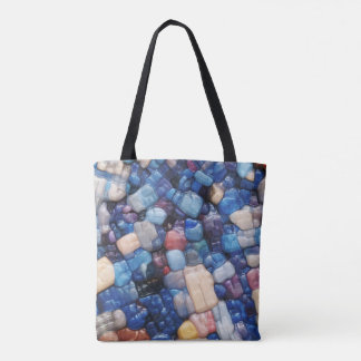 Alphanumeric Typeface Abstract Tote Bag