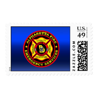 Alpharetta Fire Department Patch Postage Stamps
