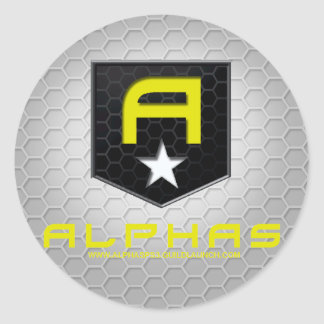 ALPHAS Stckers Classic Round Sticker