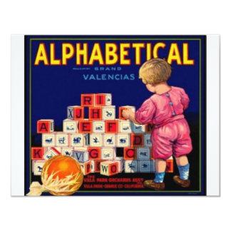 Alphbetical Card