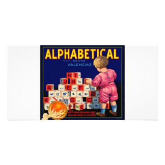 Alphbetical Customized Photo Card