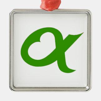 Alpheart green metal ornament