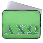 Alphi Chi Omega Green Letters Laptop Computer Sleeve