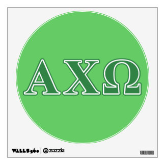 Alphi Chi Omega Green Letters Room Graphic