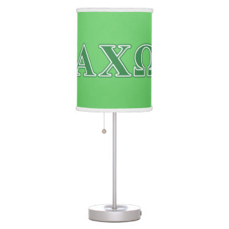 Alphi Chi Omega Green Letters Table Lamps