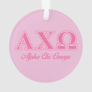 Alphi Chi Omega Pink Letters