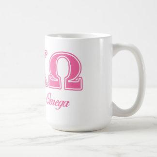 Alphi Chi Omega Pink Letters Coffee Mug