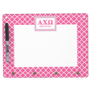 Alphi Chi Omega Pink Letters Dry Erase Whiteboard