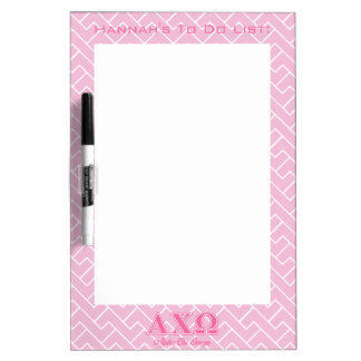 Alphi Chi Omega Pink Letters Dry-Erase Whiteboards