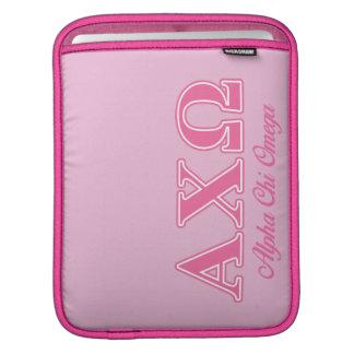 Alphi Chi Omega Pink Letters iPad Sleeve