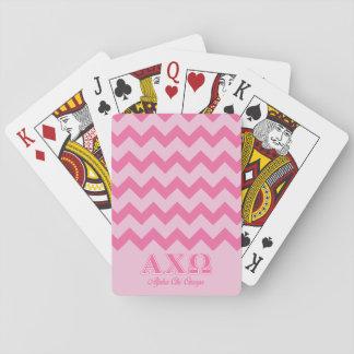 Alphi Chi Omega Pink Letters Poker Cards