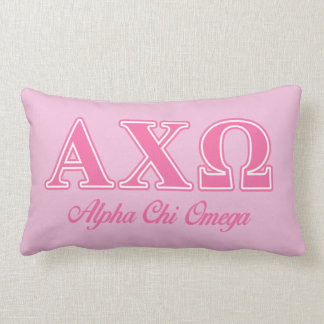 Alphi Chi Omega Pink Letters Throw Pillows