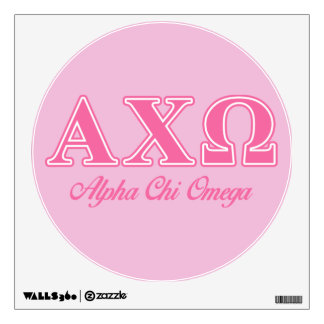 Alphi Chi Omega Pink Letters Wall Stickers