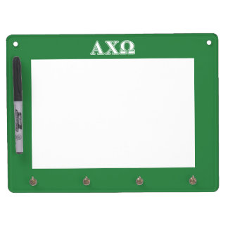 Alphi Chi Omega White and Green Letters Dry-Erase Whiteboard