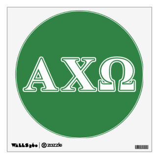 Alphi Chi Omega White and Green Letters Wall Decor