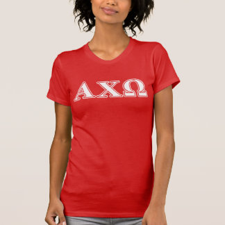 Alphi Chi Omega White and Red Letters Shirt
