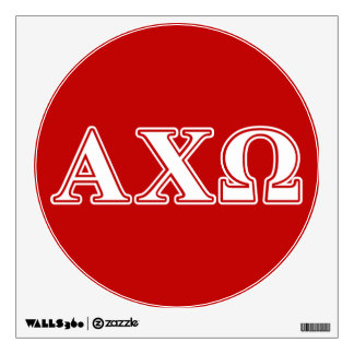 Alphi Chi Omega White and Red Letters Wall Decor