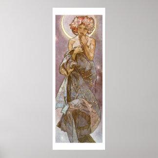 Alphone Mucha ~ The Moon 1902 Poster
