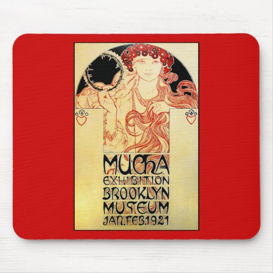 Alphones ( Alfons ) Mucha 1921 Exhibit Mouse Pad