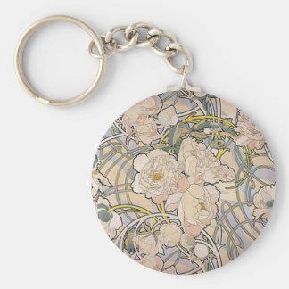 Alphones ( Alfons ) Mucha ~ Flowers Keychain
