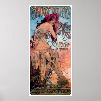 Alphones Mucha 1902 Carriage Dealers Expo Poster