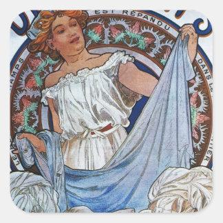 Alphons Mucha Artwork Sticker
