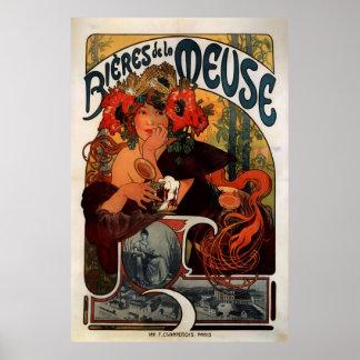 Alphons Mucha Beer Advertisement Poster