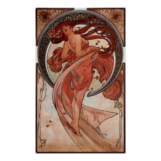 Alphons Mucha Dancing Lady Poster