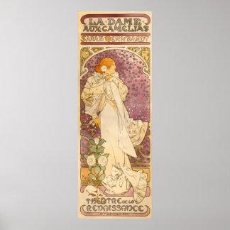 Alphons Mucha La Dame Aux Camelias Poster