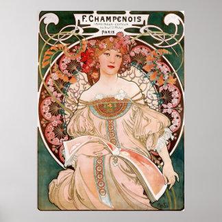 Alphons Mucha Magazine From Paris Poster