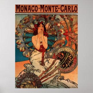 Alphons Mucha Monaco Monte Carlo Poster