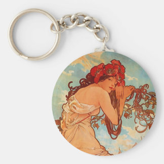 Alphons Mucha  Summer Keychain
