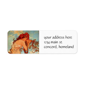 Alphons Mucha  Summer Label