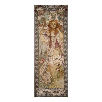 Alphons Mucha Surprise In Forest Poster