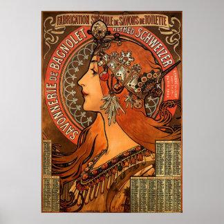 Alphons Mucha Zodiac Poster