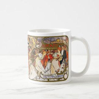 Alphonse (Alfons) Mucha:   Amants Coffee Mug