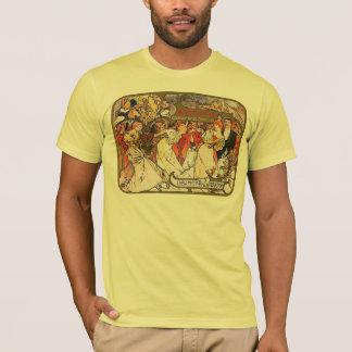 Alphonse (Alfons) Mucha:   Amants T-Shirt