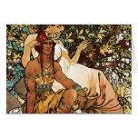 Alphonse (Alfons) Mucha - Art Nouveau - Manhood Card