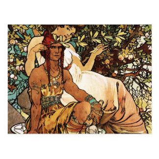 Alphonse (Alfons) Mucha - Art Nouveau - Manhood Postcard