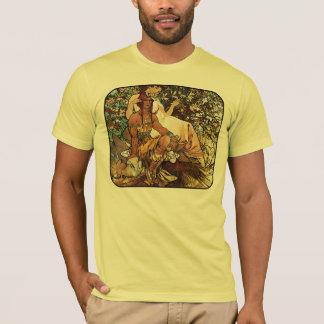Alphonse (Alfons) Mucha - Art Nouveau - Manhood T-Shirt