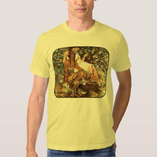Alphonse (Alfons) Mucha - Art Nouveau - Manhood Tee Shirt