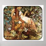 Alphonse (Alfons) Mucha Art Nouveau Poster