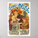 Alphonse (Alfons) Mucha:  Bieres de la Meuse  (2) Poster