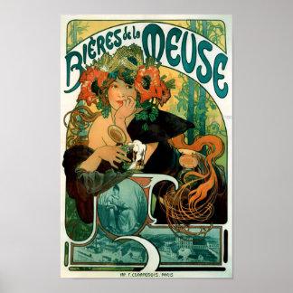 Alphonse (Alfons) Mucha - Bieres de la Meuse Posters