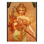 Alphonse (Alfons) Mucha  Bouquet Post Card